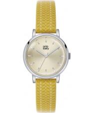 Orla Kiely OK2027 Mesdames patricia tige impression cuir jaune montre bracelet