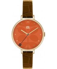 Orla Kiely OK2028 Mesdames lierre brun montre bracelet en cuir