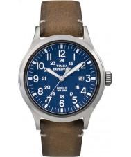 Timex TW4B01800 Mens expédition analogique élevé cuir beige de montre bracelet