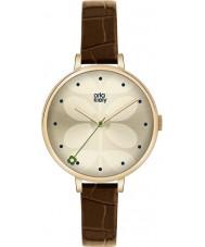 Orla Kiely OK2030 Mesdames lierre brun montre bracelet en cuir