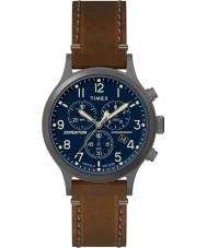 Timex TW4B09000 Mens expédition cuir marron montre bracelet