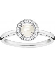 Thomas Sabo Bague de diamants en argent avec dames et glamour