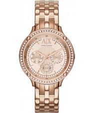 Armani Exchange AX5406 Mesdames or rose plaqué montre habillée bracelet
