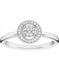 Thomas Sabo D-TR0008-725-14-54 Mesdames glam et de l'âme 925 diamants bague en argent - taille o (UE 54)