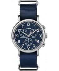 Timex TW2P71300 Weekender dérapant thru bleu montre chrono
