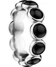 Bering Time Bague à bulles en céramique noire