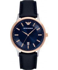 Emporio Armani AR2506 Mens cuir bleu classique montre bracelet
