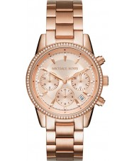 Michael Kors MK6357 Mesdames ritz plaqué or rose montre chronographe