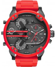Diesel DZ7370 Mens mr daddy montre bracelet en acier rouge 2.0