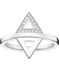 Thomas Sabo D-TR0019-725-14-54 Mesdames glam et de l'âme 925 diamants bague en argent - taille o (UE 54)