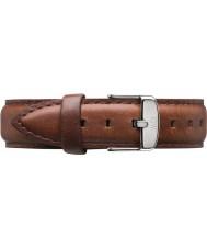 Daniel Wellington DW00200052 Mesdames classique st mawes 36mm argent cuir marron sangle de rechange