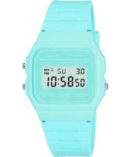Casio F-91WC-2AEF Mens collection rétro pastel montre chronographe bleu
