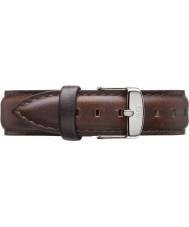 Daniel Wellington DW00200056 Mesdames classique bristol 36mm argent cuir marron sangle de rechange