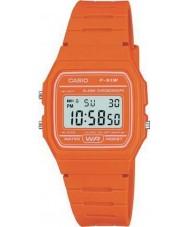 Casio F-91WC-4A2EF Mens collection rétro montre chronographe orange