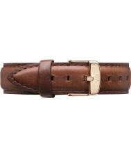 Daniel Wellington DW00200035 Mesdames classique mawes st 36mm rose cuir marron bracelet de rechange or