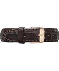 Daniel Wellington DW00200038 Mesdames classique york 36mm rose cuir marron bracelet de rechange noir or