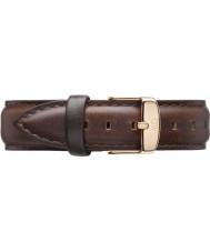 Daniel Wellington DW00200039 Mesdames classique 36mm bristol rose cuir marron bracelet de rechange or