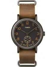 Timex TW2P86800 Mens weekender cuir beige montre bracelet
