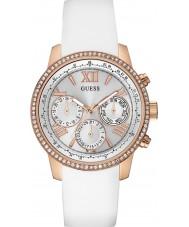 Guess W0616L1 Mesdames sunrise silicone blanc montre bracelet