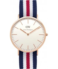 Daniel Wellington DW00100002 Mens classique 40mm canterbury montre en or rose