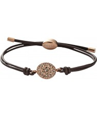 Fossil JF00118791 Mesdames cru brun paillettes bracelets en cuir réglable