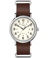 Timex T2P495 Weekender brune montre bracelet en cuir