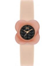Orla Kiely OK2060 Mesdames pavot rose cas de fleurs en cuir nude montre bracelet