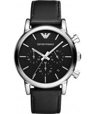 Emporio Armani AR1733 Mens chronographe classique cuir noir montre bracelet