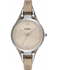 Fossil ES2830 Mesdames géorgie montre sable bracelet en cuir