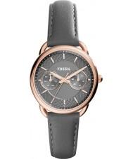 Fossil ES3913 Mesdames tailleur en cuir gris montre bracelet