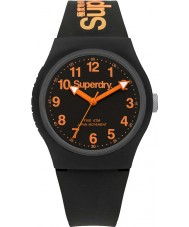 Superdry SYG164B silicone noir Urban montre bracelet