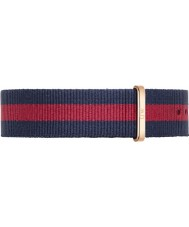 Daniel Wellington DW00200001 Mens classique 40mm oxford rose nylon bleu et rouge bracelet de rechange or