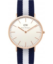 Daniel Wellington DW00100004 Mens classique 40mm glasgow montre en or rose