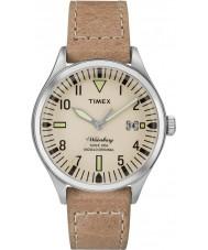 Timex TW2P84500 Mens waterbury taille moyenne cuir beige montre bracelet