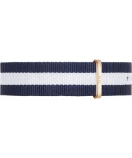Daniel Wellington DW00200004 Mens classique 40mm glasgow rose nylon bleu et blanc sangle de rechange or