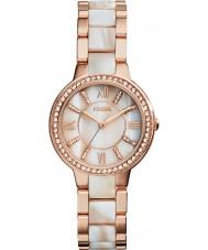 Fossil ES3716 Mesdames virginie rose et le miroitement montre de corne