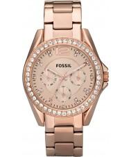 Fossil ES2811 Mesdames riley or rose montre chronographe en acier