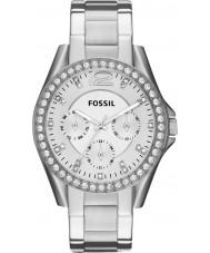 Fossil ES3202 Mesdames riley argent montre chronographe en acier