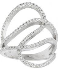 FROST by NOA 145006-54 plaqué rhodium Mesdames anneau avec zircone cubique - taille n