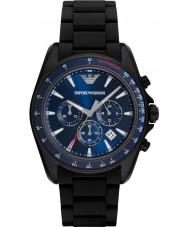 Emporio Armani AR6121 Mens sport noir mélangé montre bracelet