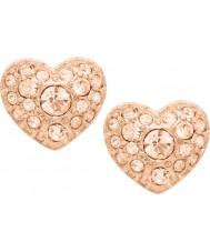 Fossil JF01151791 Ladies motifs vintage rose boucles d'oreille en acier or