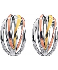Calvin Klein KJ1RDE300100 Ladies croquante tricolore boucles d'oreilles mélange cerceau