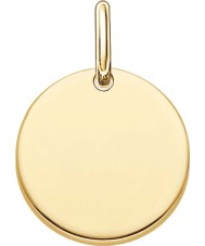 Thomas Sabo LBPE0001-413-12 Mesdames aiment plaqué pont en or jaune 18 carats pendentif