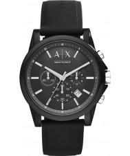 Armani Exchange AX1326 Sport silicone noir montre chronographe