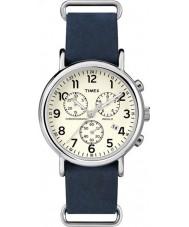 Timex TW2P62100 Weekender bracelet bleu montre chronographe
