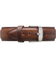 Daniel Wellington DW00200021 Mens classique st mawes 40mm argent clair cuir marron bracelet de rechange