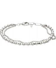 Fossil JA6775040 Mode pour dames bracelet en perles en laiton argenté