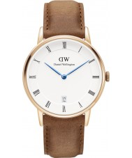 Daniel Wellington DW00100113 Dapper 34mm durham montre en or rose
