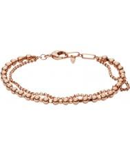 Fossil JA6776791 Mode pour dames bracelet en or rose perlé en laiton