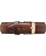 Daniel Wellington DW00200006 Mens 40mm classique st mawes rose lumière or cuir marron bracelet de rechange